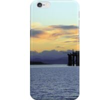 Sun setting on an Oil Rig iPhone Case/Skin