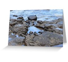 Water Pool at the Beach Greeting Card