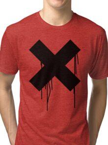 X graffiti drip Tri-blend T-Shirt