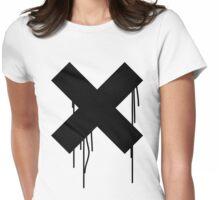 X graffiti drip Womens Fitted T-Shirt