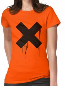 X graffiti drip Womens Fitted T-Shirt