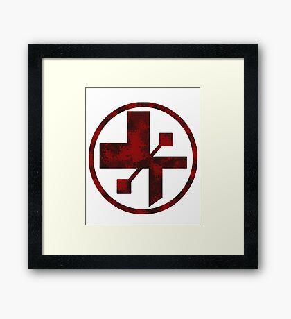 star wars- medical symbol Framed Print