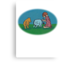 Eeyore loses a tail round Canvas Print
