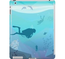 Underwater Diving Landscape iPad Case/Skin