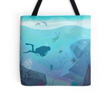 Underwater Diving Landscape Tote Bag