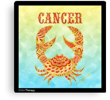 Cancer Icon Canvas Print