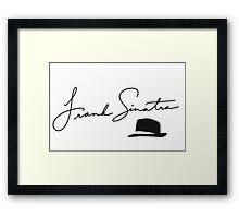 Frank Sinatra Sign Framed Print