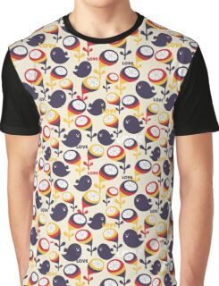 Retro birds with love Graphic T-Shirt