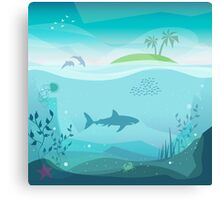 Tropical Sea Natural Landscape Canvas Print