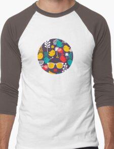 Colorful birds Men's Baseball ¾ T-Shirt