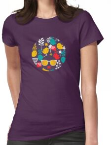 Colorful birds Womens Fitted T-Shirt