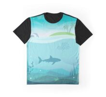 Tropical Sea Natural Landscape Graphic T-Shirt