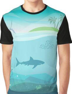 Tropical Sea Natural Landscape Graphic T-Shirt