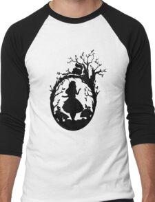 Silhouette - Alice In Wonderland Men's Baseball ¾ T-Shirt