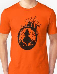 Silhouette - Alice In Wonderland Unisex T-Shirt