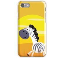 Cute Kids Illustration of Zebra iPhone Case/Skin