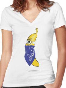 Bandana Banana Women's Fitted V-Neck T-Shirt