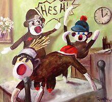 Birth of a Sock Monkey by Randy  Burns