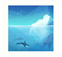 Landscape of northern and Antarctic life Art Print
