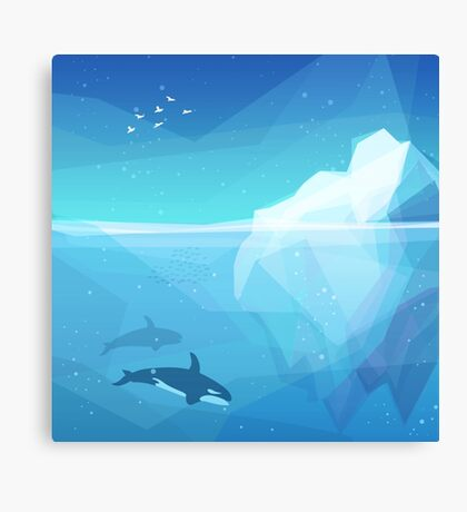 Landscape of northern and Antarctic life Canvas Print