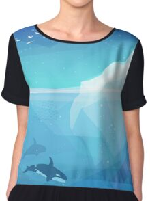 Landscape of northern and Antarctic life Chiffon Top