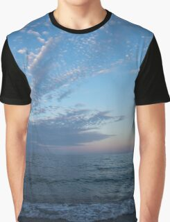 Pale Blues and Feathery Clouds in the Fading Light Graphic T-Shirt
