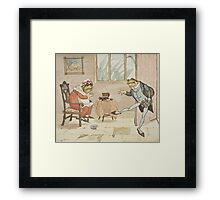 An illustration from 'A Frog He Would A-Wooing Go' Framed Print