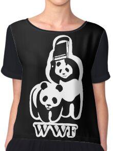 WWF panda parody Chiffon Top