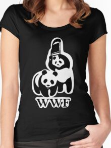 WWF panda parody Women's Fitted Scoop T-Shirt