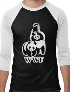 WWF panda parody Men's Baseball ¾ T-Shirt