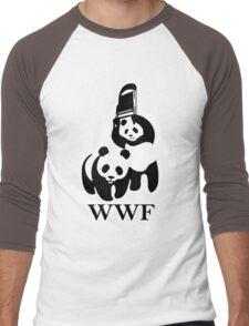 WWF panda parody Men's Baseball ¾ T-Shirt
