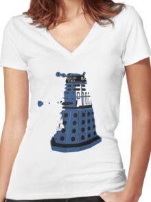 Tardis Dalek  Women's Fitted V-Neck T-Shirt
