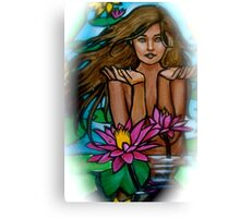 Lily Girl Canvas Print