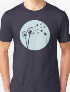 Dandelion Bird Flight Unisex T-Shirt