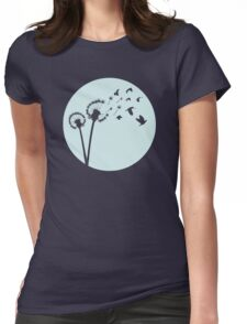 Dandelion Bird Flight Womens Fitted T-Shirt