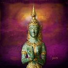 Thai Goddess - throw pillow by Gilberte