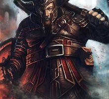 Dwarf Fighter Portrait by EJRidgeway