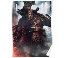 Dwarf Fighter Portrait Poster