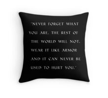 Game of thrones Tyrion quote design Throw Pillow