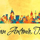 San Antonio Texas Skyline by T-ShirtsGifts