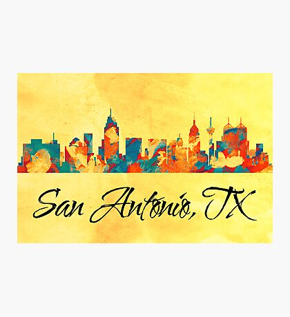 San Antonio Texas Skyline Photographic Print