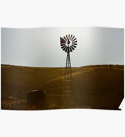 Windmill Water Pump Texas Poster