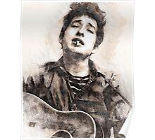 Bob Dylan portrait 01 Poster