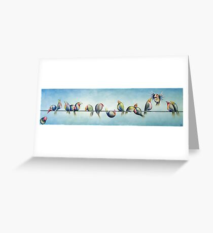 Finches On Parade Greeting Card
