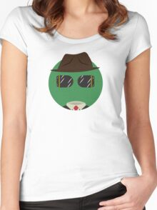 Little Monsters: Invisible Man Women's Fitted Scoop T-Shirt
