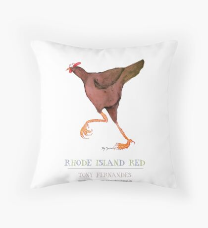 rhode island red hen - tony fernandes Throw Pillow
