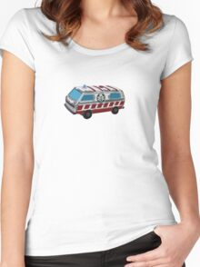 Old Vintage Retro Ambulance Toy Women's Fitted Scoop T-Shirt