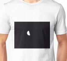 Half moon in night sky Unisex T-Shirt