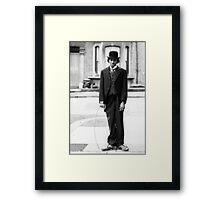 MJ - Charlie Chaplin Framed Print
