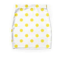 Beautiful yellow Dots on White Background Design Mini Skirt